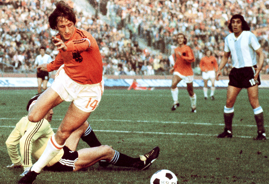 <p>Johan Cruyff began playing football on the streets of Amsterdam. Ascending from his humble neighborhood, to the greatest stadiums around the globe, Johan delighted the world with a brand of football that would grow to enthrall generations of football fans and profoundly influence the modern game.</p>